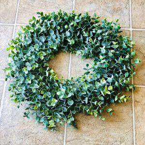 "Other - NWT Light Green Eucalyptus Wreath 15"""